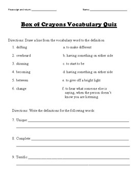 Box of Crayons Vocabulary Bundle
