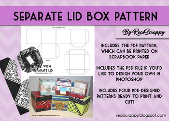 Box with Separate Lid Pattern & Photoshop Tutorial