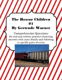 Boxcar Children 1 Comprehension Chapter Questions