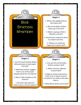 Boxcar Children BUS STATION MYSTERY - Discussion Cards