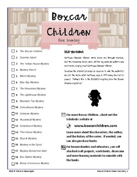 Boxcar Children Book Inventory