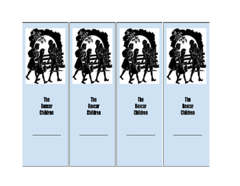 Boxcar Children Bookmarks