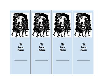 Boxcar Children Bookmarks