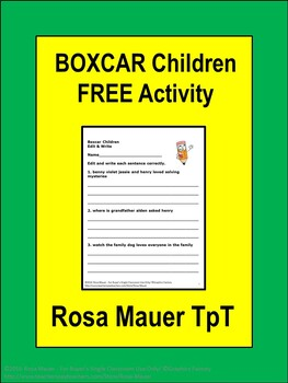 Boxcar Children Free Edit and Write
