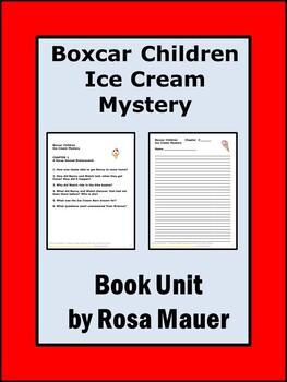 Boxcar Children Ice Cream Mystery Literacy Unit