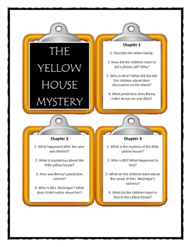 Boxcar Children THE YELLOW HOUSE MYSTERY - Discussion Cards