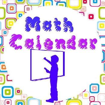 Boxed Theme Math Calendar
