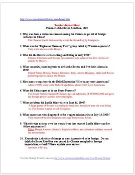 boxer rebellion worksheet pdf