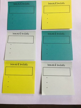 Boxes & Bullets Organizer for Sticky Notes