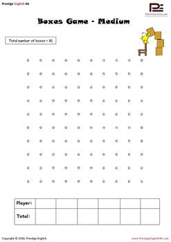 Boxes Game / Dot to Dot Game - Free / FREEBIE