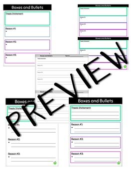 FREEBIE: Boxes and Bullets Google Slides Organizers