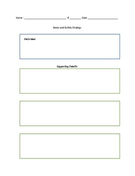 Boxes and Bullets Worksheet