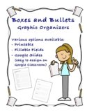 Boxes and bullets essay outline