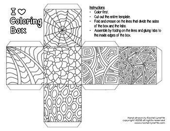Boxes for Students to Color - Great for Christmas or any Small Gift