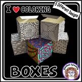 Boxes for Students to Color  Great for Christmas or any Sm