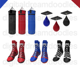 Boxing Clip Art - Boxing Glove Digital Graphics