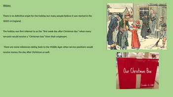 Boxing Day - Power Point Full History Facts Information Pictures UK Holiday