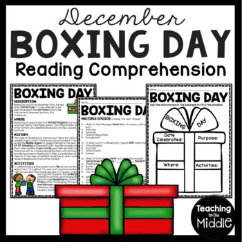 Boxing Day Reading Comprehension Worksheet; Christmas, United Kingdom