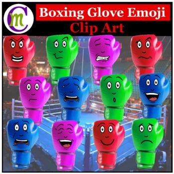 Boxing Glove Emoji Clipart | Sports Game Emotions Clip Art