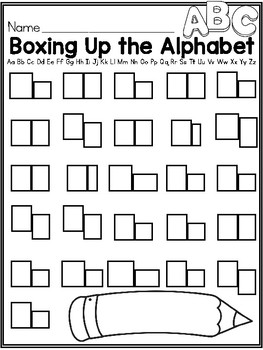 Boxing Up the Alphabet and Sight Words