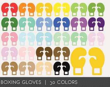 Boxing gloves Digital Clipart, Boxing gloves Graphics, Box
