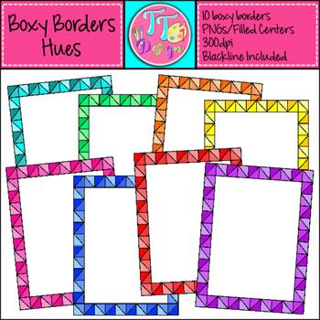 Boxy Borders Hues Clip Art CU OK