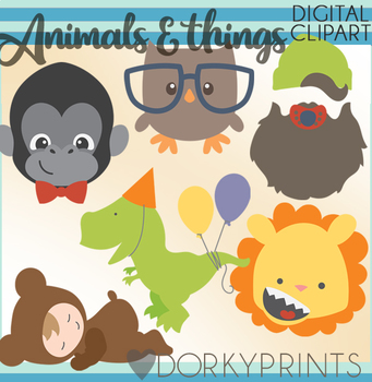Boy Animals Clipart