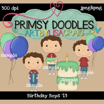 Boy Birthday 300 dpi clipart
