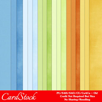 Boy Birthday Colors Cardstock Digital Papers