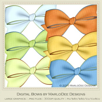Boy Birthday Colors Digital Bow Graphics package 1