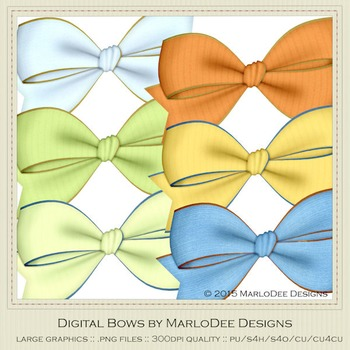 Boy Birthday Colors Digital Bow Graphics package 3