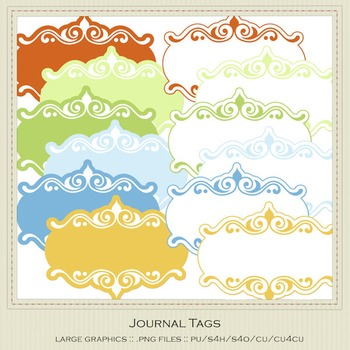 Boy Birthday Colors Digital Journal Tag Graphics