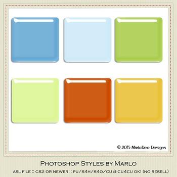 Boy Birthday Colors Gloss Photoshop Style