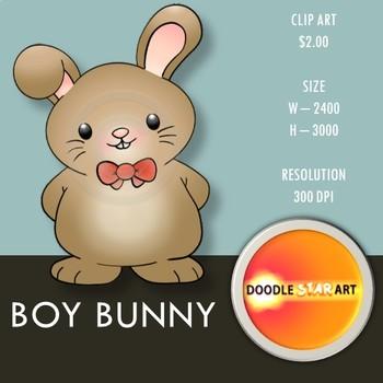Boy Bunny Clip Art
