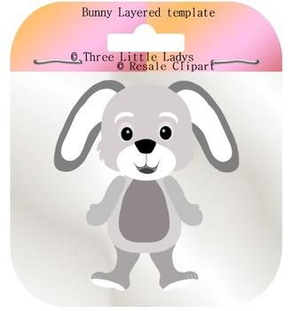 Boy Bunny Template