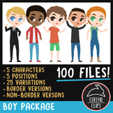 Boy Character Package [Coelho Clips Digital Clipart]