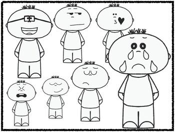 Boy Emoji/Emotion Faces