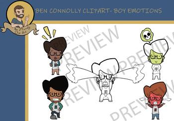 Boy Emotions Clip Art