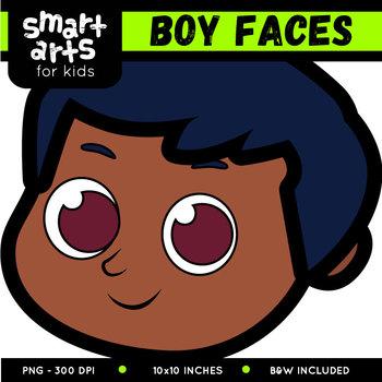 Boy Faces Clip Art