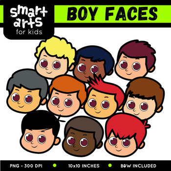 Boy Faces Clip Art