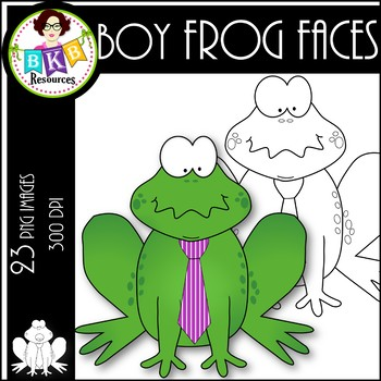 Boy Frog Faces ● Clip Art ● Products for TpT Sellers