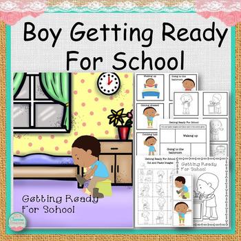 Boy Getting Ready For School