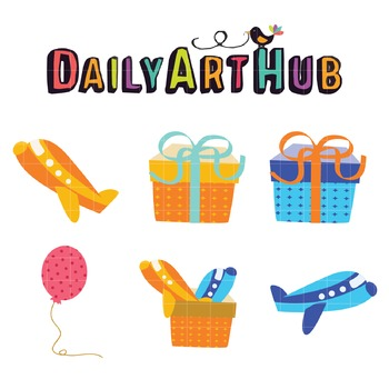 Boy Gifts Clip Art - Great for Art Class Projects!