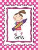 Boy Girl Bathroom Signs