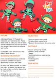 Boy & Girl Elf Puppets for Christmas Fun - STEAM Craft Act