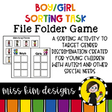 Folder Game: Boy and Girl Sorting for Early Childhood Special Education