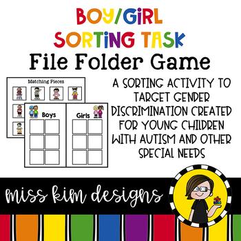 Boy Girl Sorting File Folder Game for Early Childhood Spec