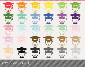 Boy Graduate Digital Clipart, Boy Graduate Graphics, Boy Graduate PNG
