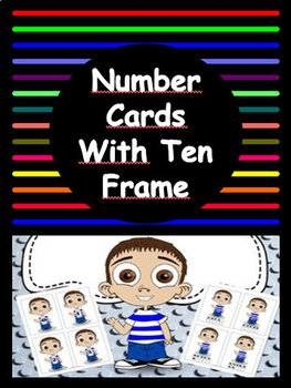 Boy Number Cards with Ten Frame