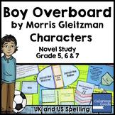 Boy Overboard Novel Study: Characters
